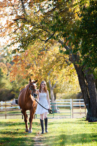 Northville Senior Portraits with Horses