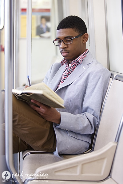 Downtown Detroit Senior Portraits on the People Mover