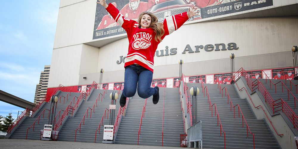 Detroit Red Wings Hockey Senior Pictures