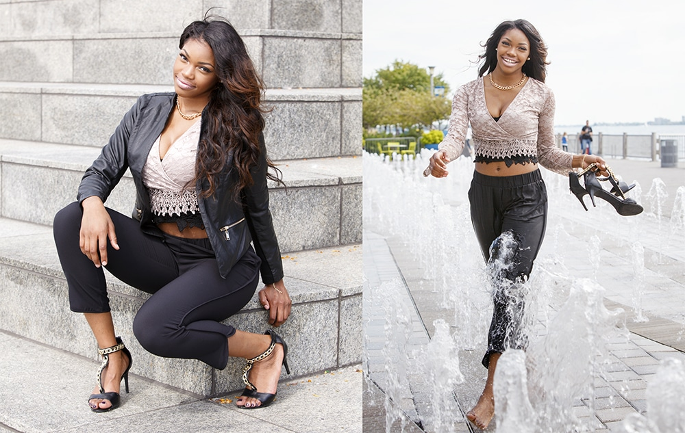 Downtown Detroit Senior Pictures Photographer