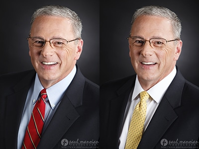 What to Wear for Professional Headshots: Tie Color?