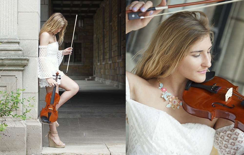 Senior Pictures with a Violin Ideas