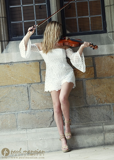 Senior Pictures with Violins - Metro Detroit Photographer