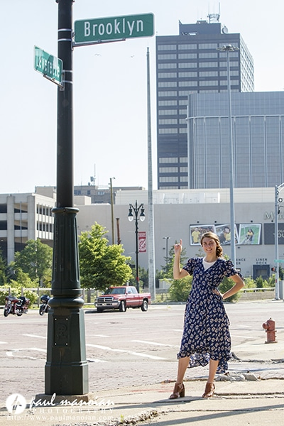 Senior Pictures in Downtown Detroit