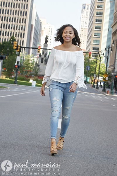 Downtown Detroit Senior Pics