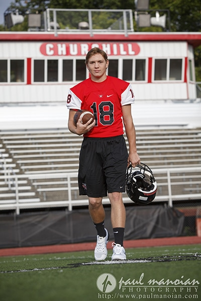 Football Senior Pictures - Livonia Photographers