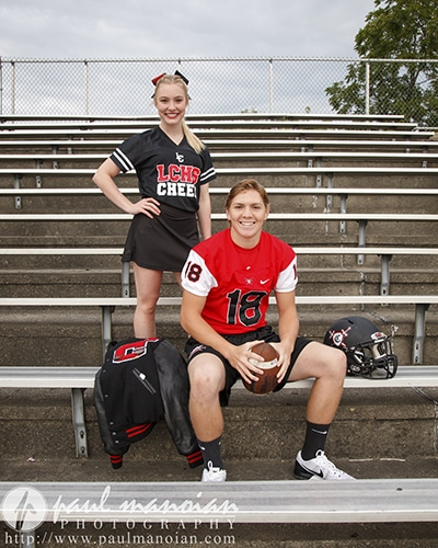 Football Senior Portraits - Livonia Photographers