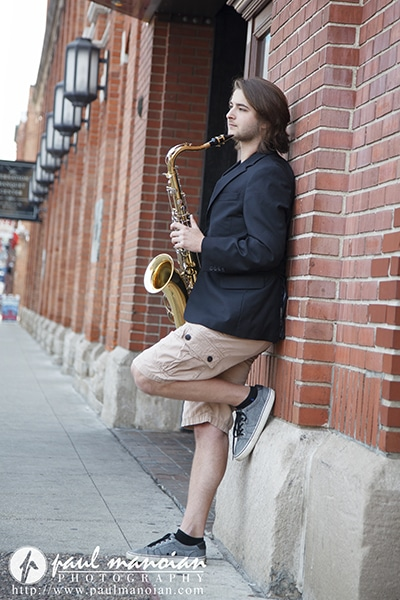 Senior Pictures with a Saxophone