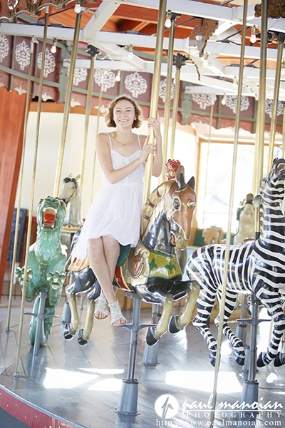 Awesome Senior Portraits on a Carousel