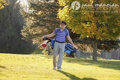 Golf Senior Pictures Ideas - Hillsdale Photography