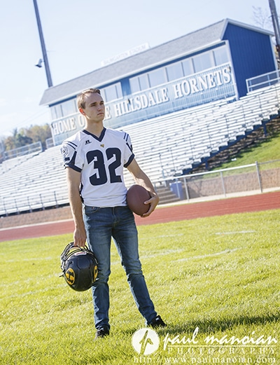 Football Senior Pictures - Hillsdale Photographers